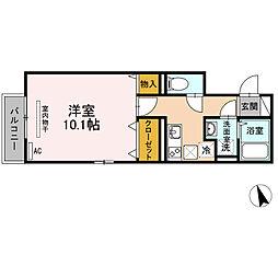 バス 平島下車 徒歩2分の賃貸アパート 1階1Kの間取り