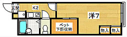 レオパレス クレール藤が尾2[1階]の間取り