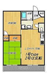 リノン住道(旧イノベーション住道)[4階]の間取り