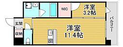 PHOENIX Clove Tomoi 4階1LDKの間取り