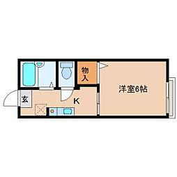 奈良県奈良市芝辻町4丁目の賃貸アパートの間取り