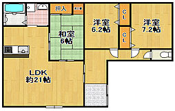 平尾3丁目マンション[2階]の間取り
