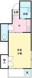 桑田コーポ[203号室]の間取り