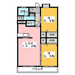 ルーラル シーナリー[4階]の間取り