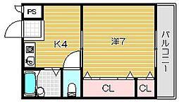 アンフィニ松ヶ丘[404号室]の間取り