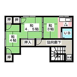 加藤荘 西棟[2階]の間取り