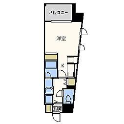 大阪府大阪市西区靱本町1丁目の賃貸マンションの間取り