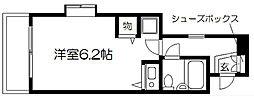 デトムワン京大前2[201号室]の間取り