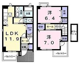 ル・シェール2[2階]の間取り