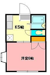 エステートピア内藤D[2階]の間取り