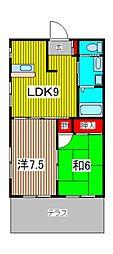 3-SEPIA II[1階]の間取り