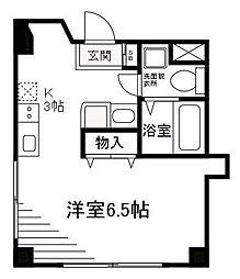 A.I.S 幡ヶ谷[3階]の間取り
