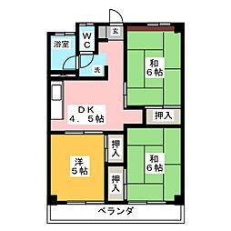 東殖ハイツ[9階]の間取り
