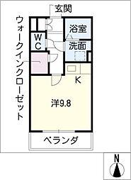 アイユー河田A棟[3階]の間取り