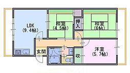 第二西ノ京マンション[2階]の間取り