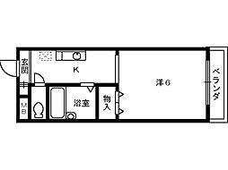 リバーランド堺東[201号室]の間取り
