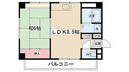 大地ビルパート5[502号室]の間取り