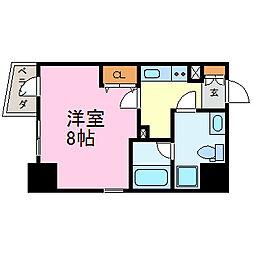 愛知県名古屋市中区千代田1丁目の賃貸アパートの間取り