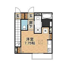 千葉県八千代市村上南2丁目の賃貸アパートの間取り