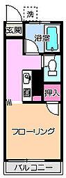 豊ヶ丘コーポ[2階]の間取り