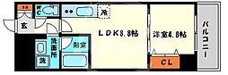 レオンコンフォート本町橋 12階1LDKの間取り