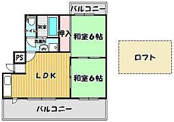 インテグラフェニックスパート1[405号室]の間取り