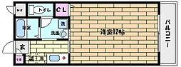 阪急神戸本線 王子公園駅 徒歩8分の賃貸マンション 1階1Kの間取り