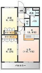 Forest美咲[2階]の間取り
