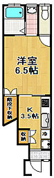 八木テラス2(八幡)[1階]の間取り