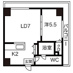 AMSタワー中島[706号室]の間取り