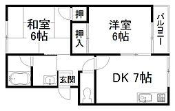 竹内マンション[1階]の間取り