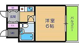 アベノ池田マンション[1階]の間取り