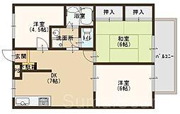 アルベロ福田[2階]の間取り