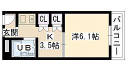 大阪府摂津市一津屋3丁目の賃貸マンションの間取り