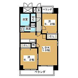 P−SQUARE Shumoku II[9階]の間取り