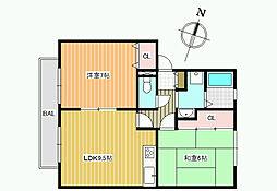 アレイ島泉[2階]の間取り