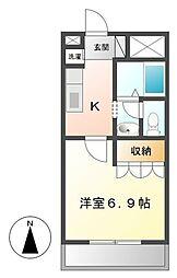埼玉県熊谷市平戸の賃貸アパートの間取り