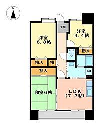 アーバンラフレ鳩岡 1号棟[11階]の間取り