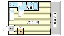 日東ハイツ辻井[201号室]の間取り
