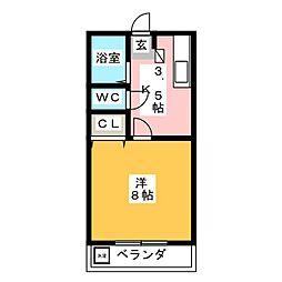 ルーラルハイツIWATA[2階]の間取り