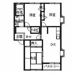 フォレストハイム誉田A棟[2階]の間取り