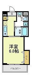 ヴィーブル駒川2[4階]の間取り
