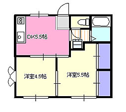 ウィングフラット[2階]の間取り
