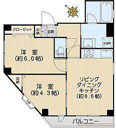 Villas at Koishikawa[2階部分号室]の間取り