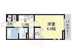 MATSU-KAZE2 1階1Kの間取り