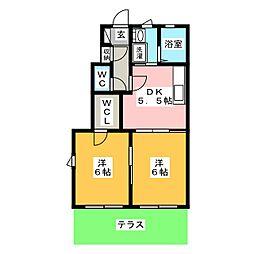 カーサA[1階]の間取り