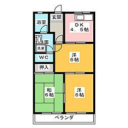 ダイヤマンションB[1階]の間取り