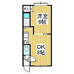 ドルチェ日吉B[2階]の間取り