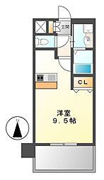 プレサンス名古屋駅前ヴェルロード[7階]の間取り