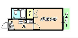クレセント垂水[4階]の間取り